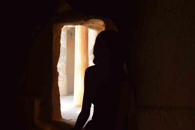 Briana In A Tomb
