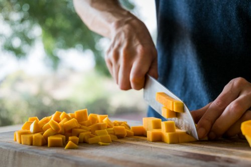 then chop into cubes