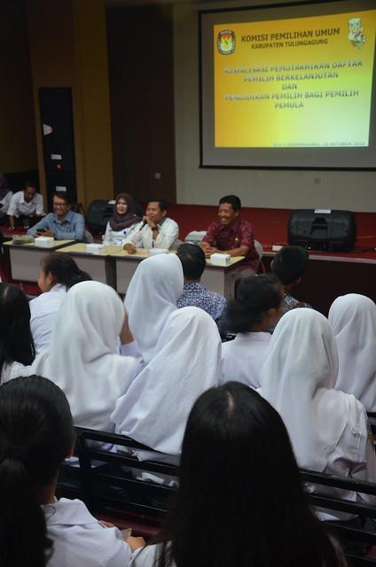 Suasana acara KPU goes to school(18/10)