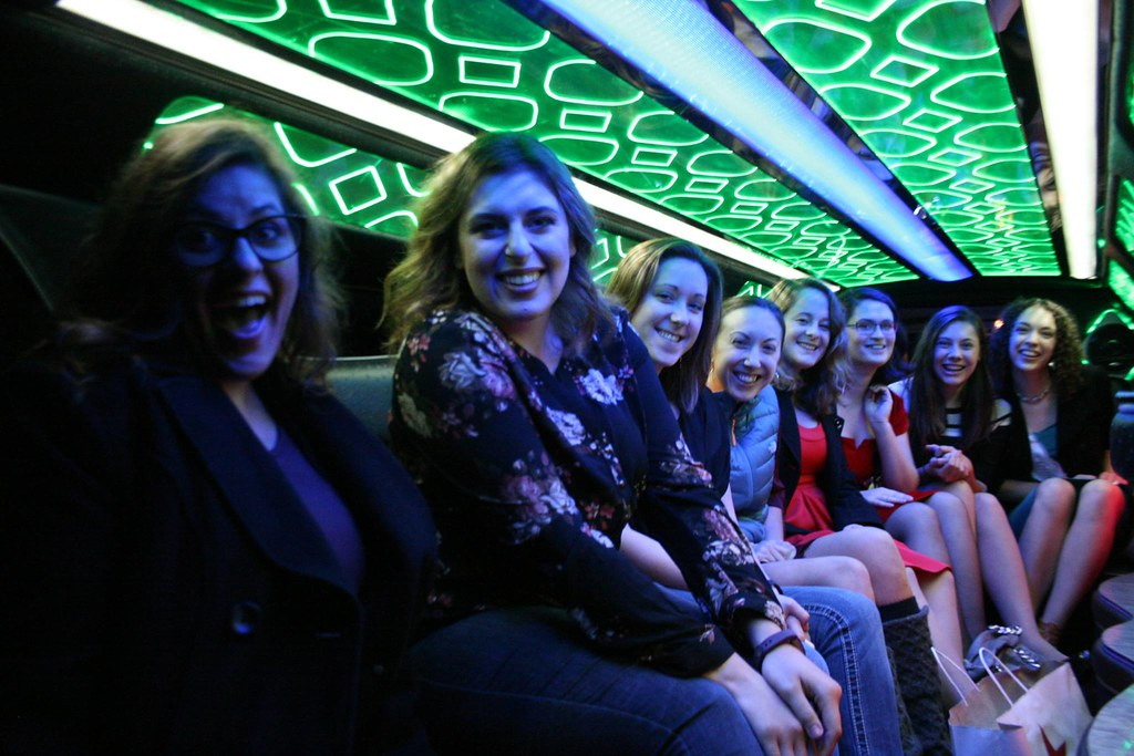 Ladies in the limo!
