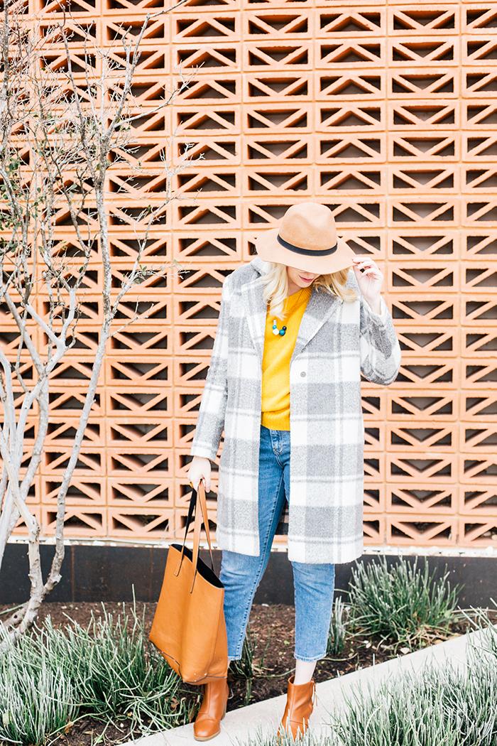austin style blogger grey coat mustard sweater6