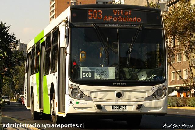 Transantiago 503 | Metbus | Caio Mondego H - Mercedes Benz / BDXR52