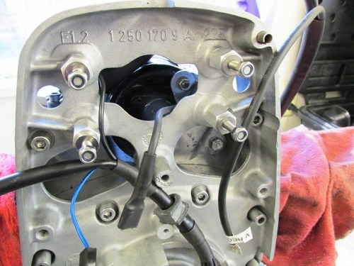 """""""Red"""" Wire with Spade Connector Routing & Black Wire of Front Engine Harness Routing"""