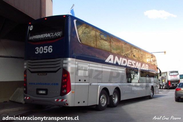 Andesmar | Paso Los Libertadores | Metalsur Starbus 3 - Volvo / AA157BR - N° 3056