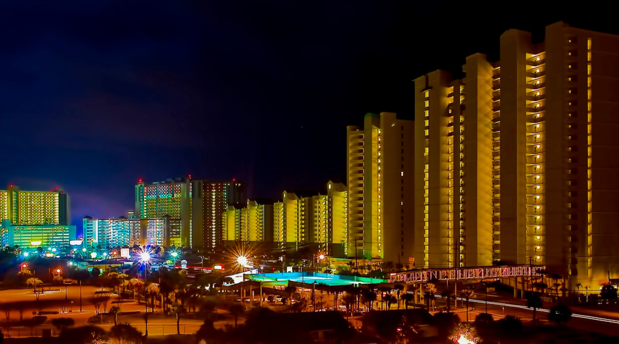 The skyline of Panama City Beach, Florida, U.S.A.