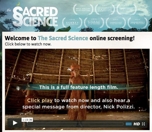 Free: The Sacred Science film + interviews are free for a
