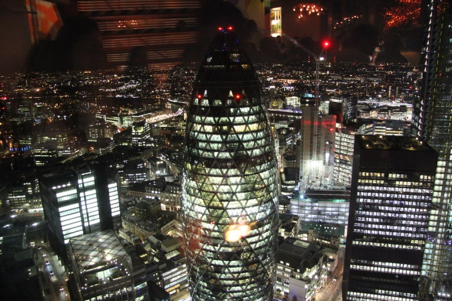 vue Londres depuis Duck and Waffle