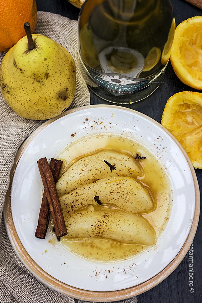 pere in suc de portocale și vin3