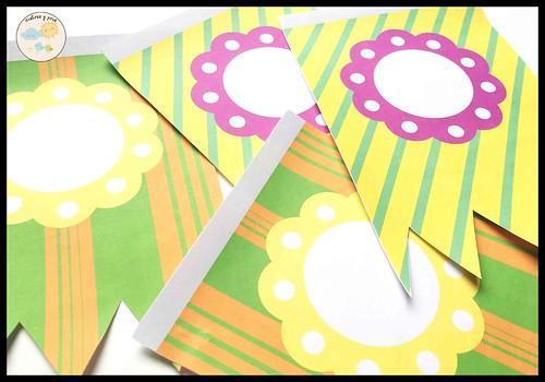 Banderines para cumpleaños. Imprimible gratis