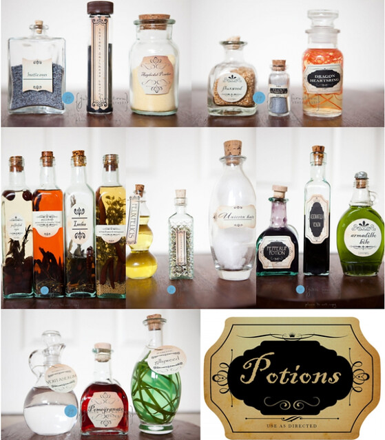 hp.potion bottles