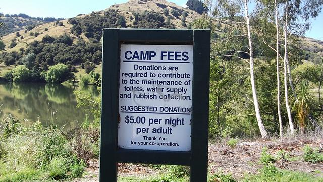Camp Sign - Lake Tutira campsite