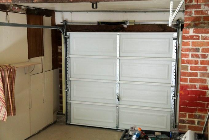 New garage door at the duplex #thelovelygeek