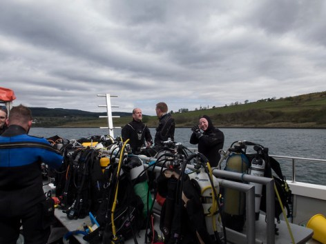 On route to the first dive Lochaline weekend May 2016