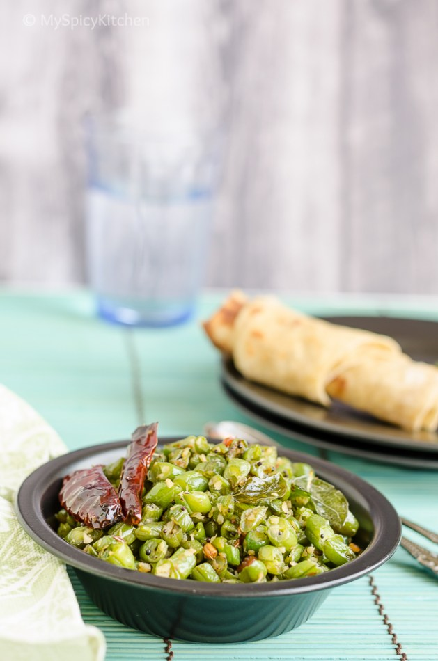 Green Beans Saute, Poriyal, Green Beans Poriyal, Tamil Food, Tamil Cuisine, Indian Food,  South Indian Food, Beans, CCChallenge, Cooking from Cookbook,  Dakshin Chandra Padmanabhan