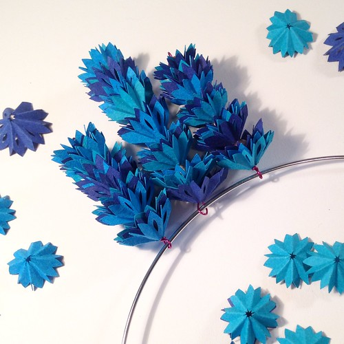 Assembling the blue bits