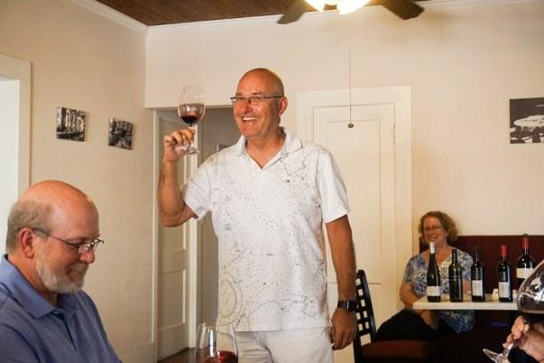 Cheers! Bernhard Weidinger of Tina's Cafe & Bakery Vienna in Punta Gorda, Fla., May 2016.