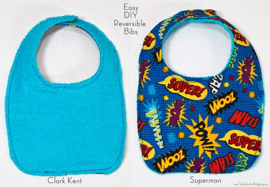 Easy DIY Reversible Bibs