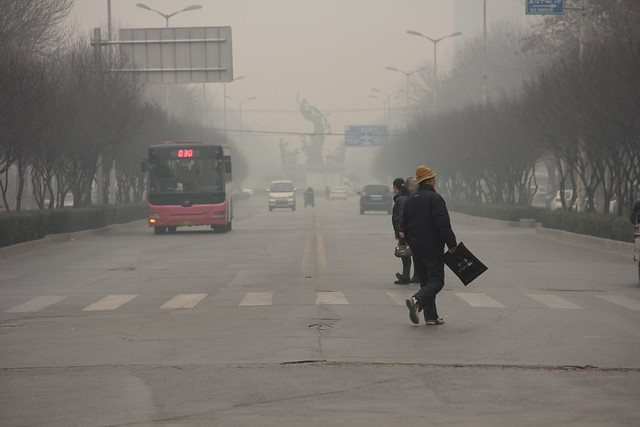 polluted air day, Anyang, China