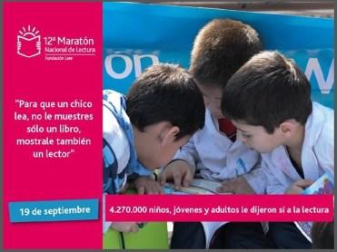 Minera Alumbrera auspició la 12ª Maratón Nacional de Lectura