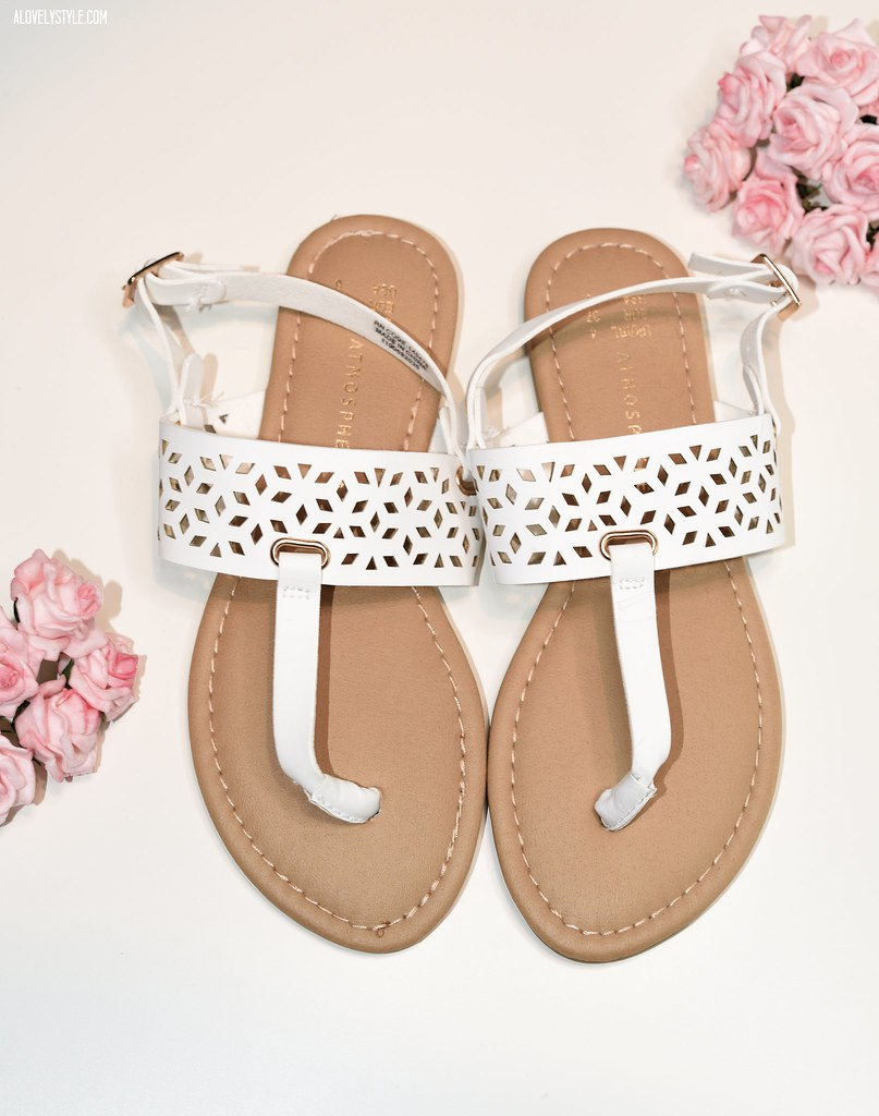 White sandals primark