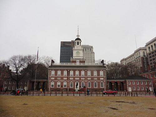 Patrimonio de la Humanidad en Europa y América del Norte. Estados Unidos. Independence Hall en Filadelfia.