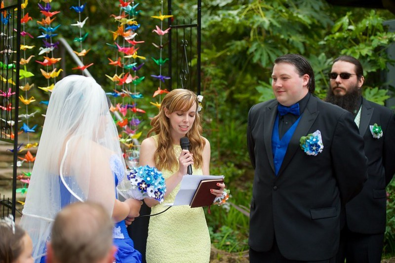 Medieval rainbow wedding from @offbeatbride