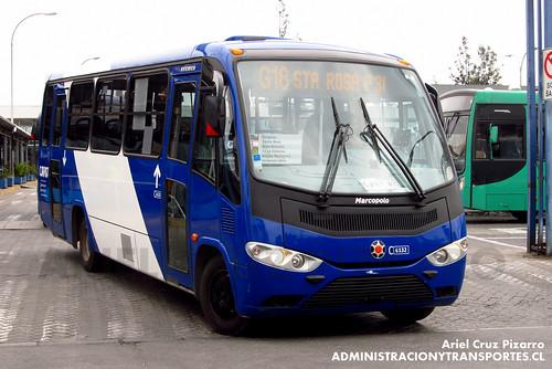Transantiago - Subus Chile - Marcopolo Senior / Mercedes Benz (CJRP87)