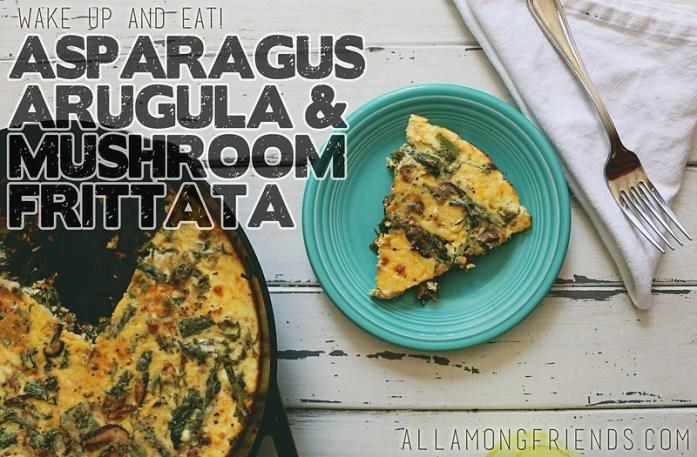 Asparagus and Mushroom Frittata via All Among Friends