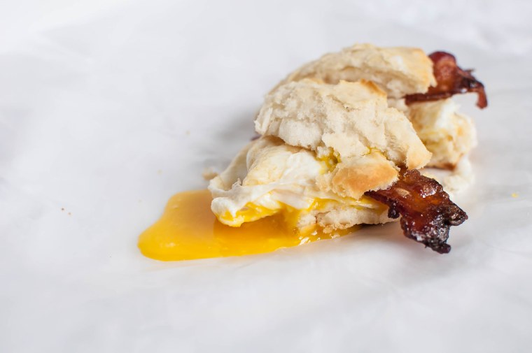 Maple and Brown Sugar Bacon and Egg Biscuits 4