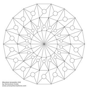Mandala template 42