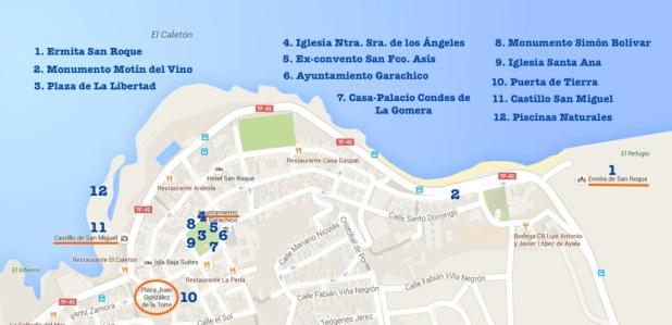 Qué ver en Garachico - Mapa