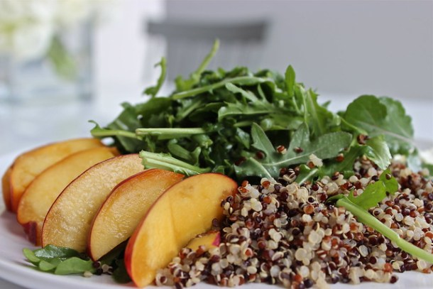 Peaches and Arugula Salad