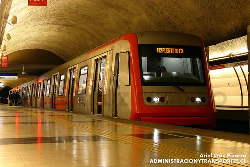 Metro de Santiago - Alstom AS2002 R4442 - Los Orientales (L4)