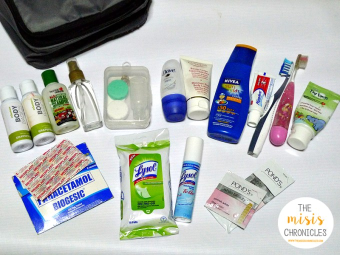 what's in our travel toiletry bag