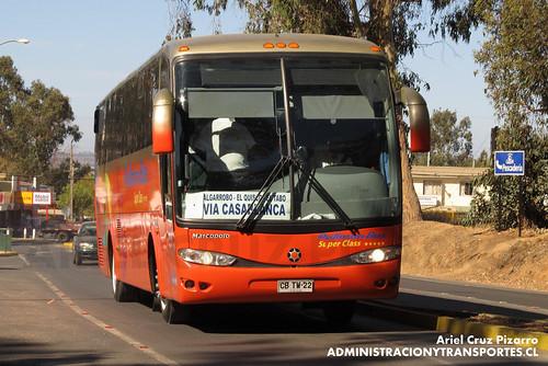 Pullman Bus Costa Central - Algarrobo - Marcopolo Viaggio 1050 / Mercedes Benz (CBTW22)
