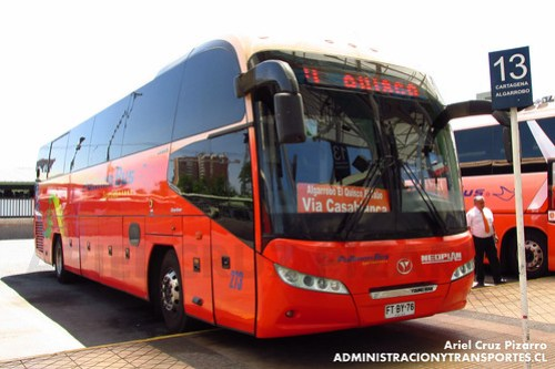Pullman Bus Costa Central - Santiago - Youngman Starliner (FTBY76)