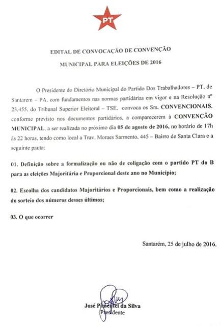 Convenção do PT - 2016