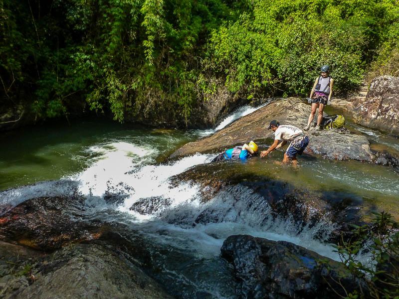 Rock waterslide - Canyoning in Dalat