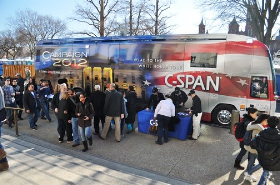 C-SPAN Truck, Day Before 57th Presidential Inauguration, Washington, D.C., Jan. 20, 2013