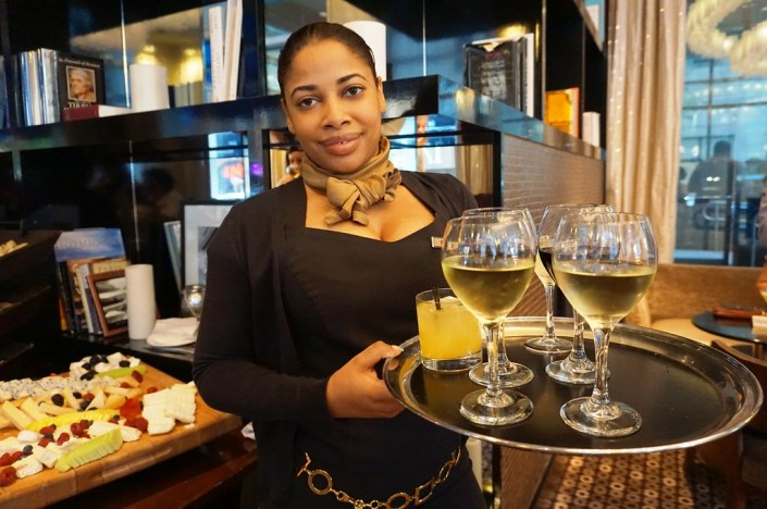 Honey Bud (Orange Drink in Tumbler) Served at Liberte Urban Chic Lounge at Sofitel Philadelphia, June 2016