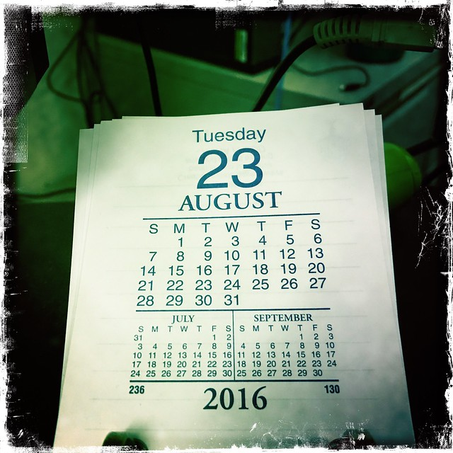 Tuesday AUGUST 2016 #23s #23onthe23rd