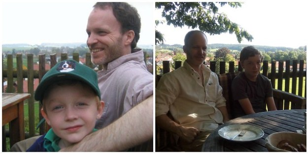 My boys at Andechs Monastery 2007 vs. 2016