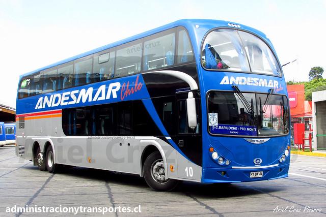 Andesmar Chile | Puerto Montt | Metalsur Starbus 2 - Mercedes Benz / FYBK44 - 10