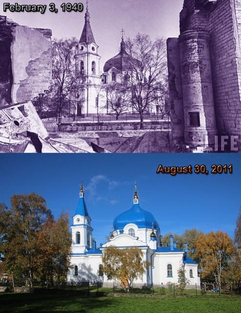 1940 3 feb Mydans russian ortodox church intact - 30 august 2011