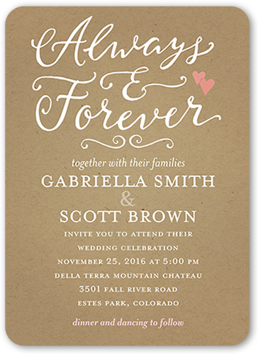 Rustic Wedding Invitations Hearts