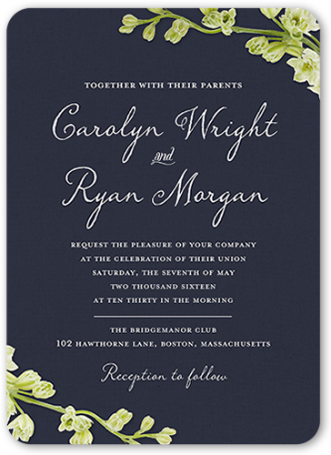 Wedding And Bridal Shower Invitations