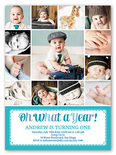 what a year boy first birthday invitation shutterfly