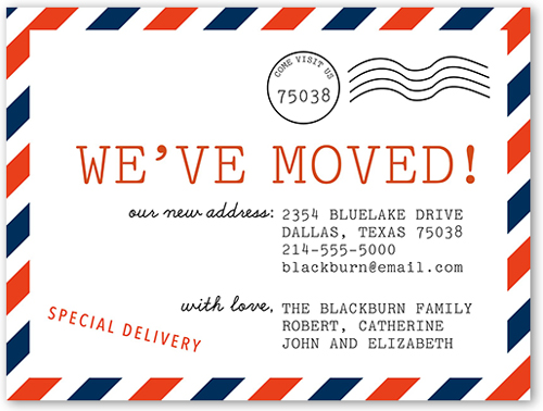 Weve Moved Postcard 4x5 Moving Announcement Cards