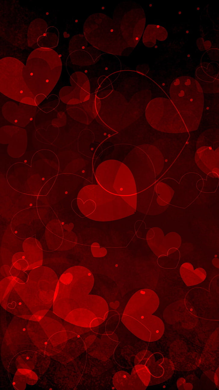 Hd Wallpaper Valentines Day Pretty Hearts Red Heart Wallpaper Love No People Wallpaper Flare