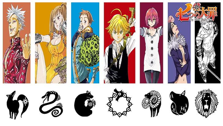 Hd Wallpaper Seven Deadly Sins Anime Wallpaper Nanatsu No Taizai Colorful Wallpaper Flare